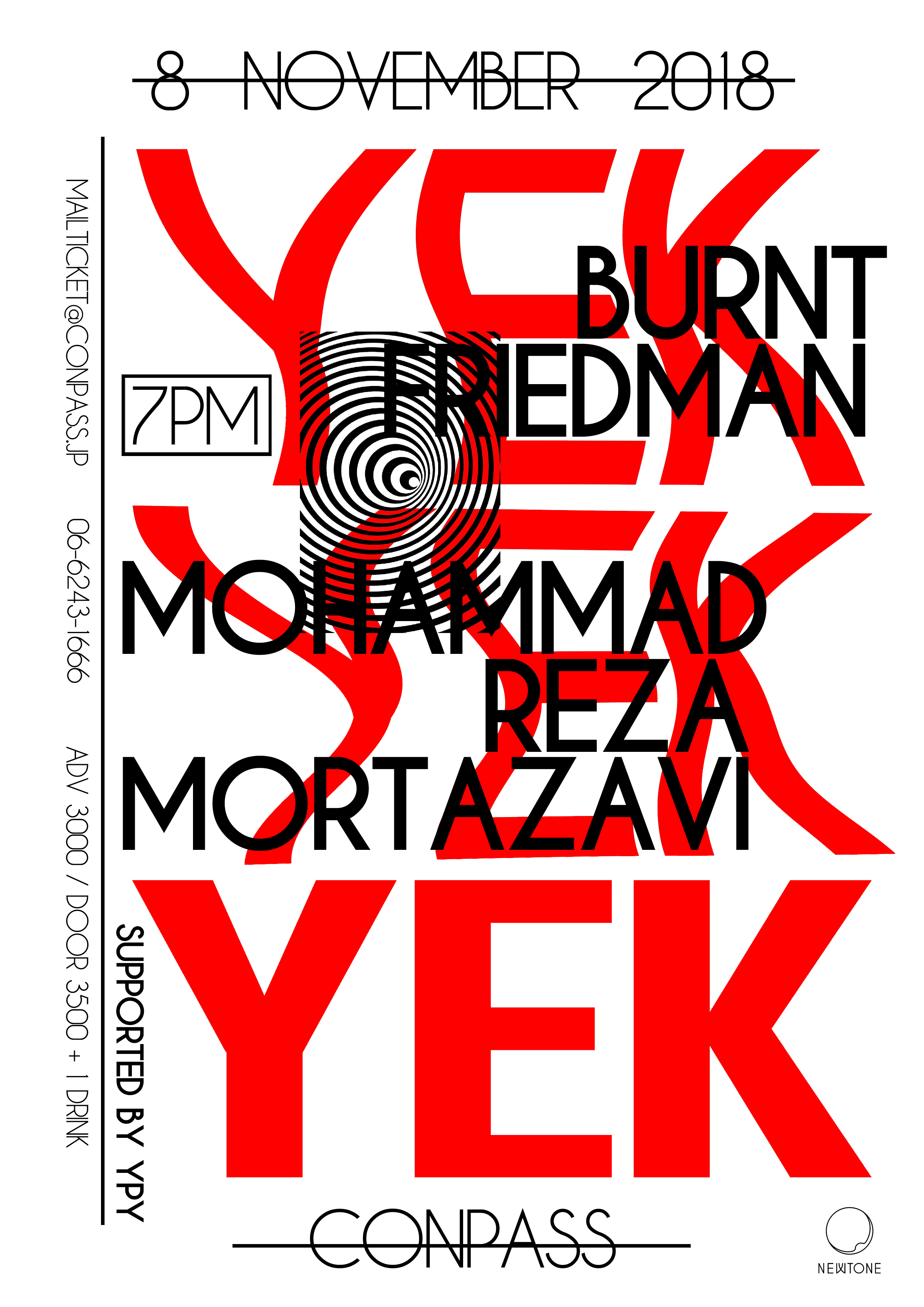YEK(BURNT FRIEDMAN & MOHAMMAD REZA MORTAZAVI)大阪公演